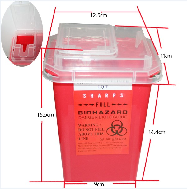 Tattoo sharps container
