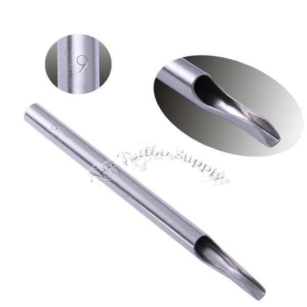 Polishing  304 Stainless Steel Philip Long Tattoo Tips 9FT