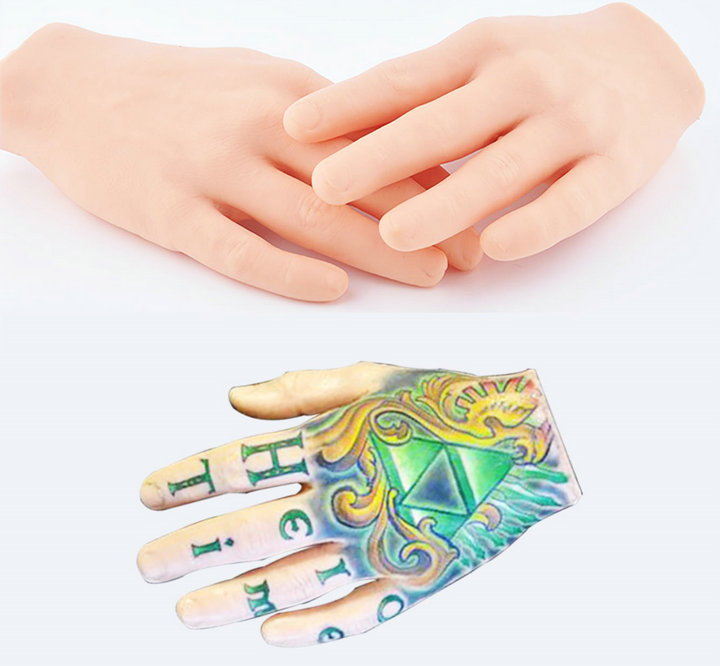 Fake skin practice soft tattoo hand fake skin practice for Practice skin for tattooing