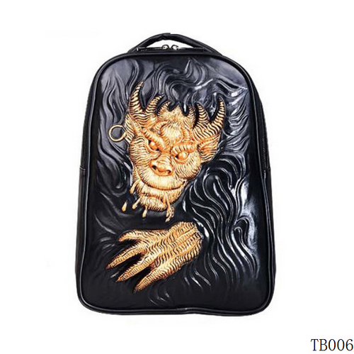 Unique Monster Tattoo Bag Gold