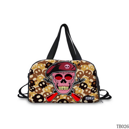 Tattoo Collection Skull Tote Bag Dark Red