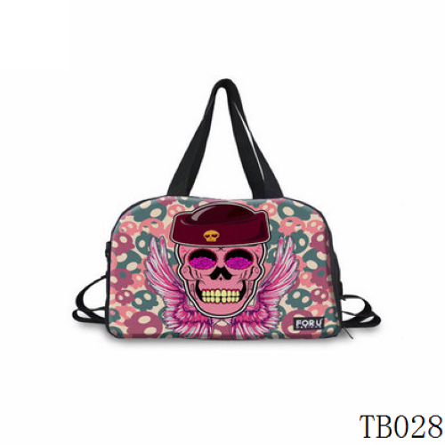 Tattoo Collection Skull Tote Bag Pink