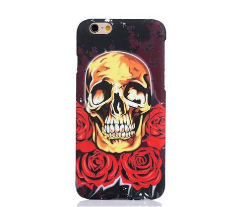 Smile Skull Tattoo Mobile Phone Shell