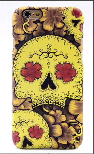 Yellow Skull Tattoo Mobile Phone Shell