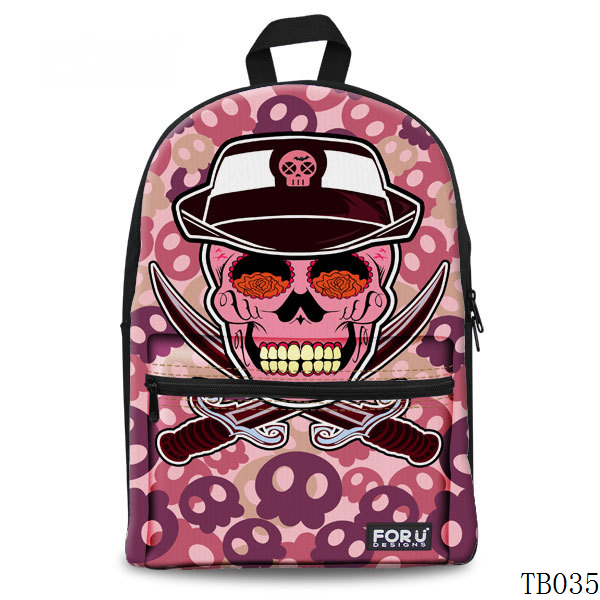 Unique Skull Tattoo Artist Backpack Pink