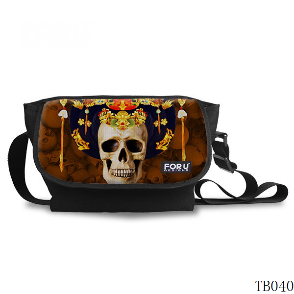 Tattoo Skull Messenger Bag