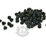 New Black Soft Tattoo Machine Nipple Gromment Silica Gel  100pcs