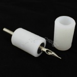 White Soft Silicone Tattoo Grip Cover