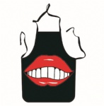 Big Red Lips Unique Tattoo Apron
