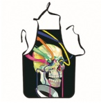 Colorful Skull Unique Tattoo Apron