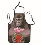 Gorilla and flower Unique Tattoo Apron