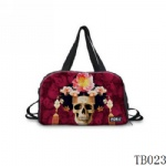 Tattoo Collection Skull Tote Bag Red