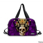 Tattoo Collection Skull Tote Bag Purple