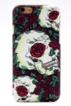 Red Flower Skull Tattoo Mobile Phone Shell