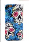 Blue Flower Tattoo Mobile Phone Shell