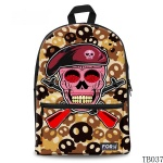 Gift for Artist Skull Tattoo Bag Yellow