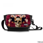 Tattoo Skull Messenger Bag Dark Red