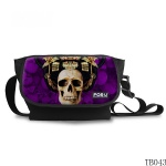 Tattoo Skull Messenger Bag Purple