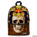 Skull Tattoo Bag For Artist Brown