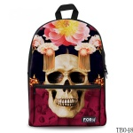 Skull Tattoo Bag For Artist Red