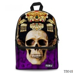 Skull Tattoo Bag For Artist Purple
