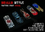 Blue Skull Style Tattoo Foot Pedal