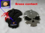 Skull stainless steel Foot switch NEW